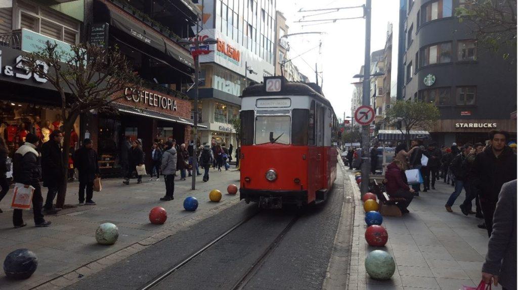 Kadikoy-Moda tram on Bahariye