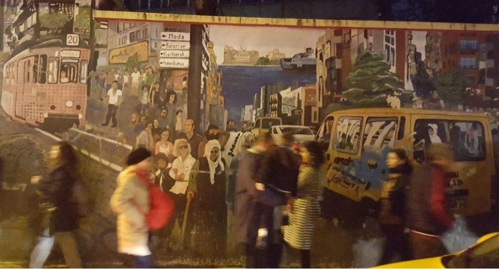 A mural in Kadikoy