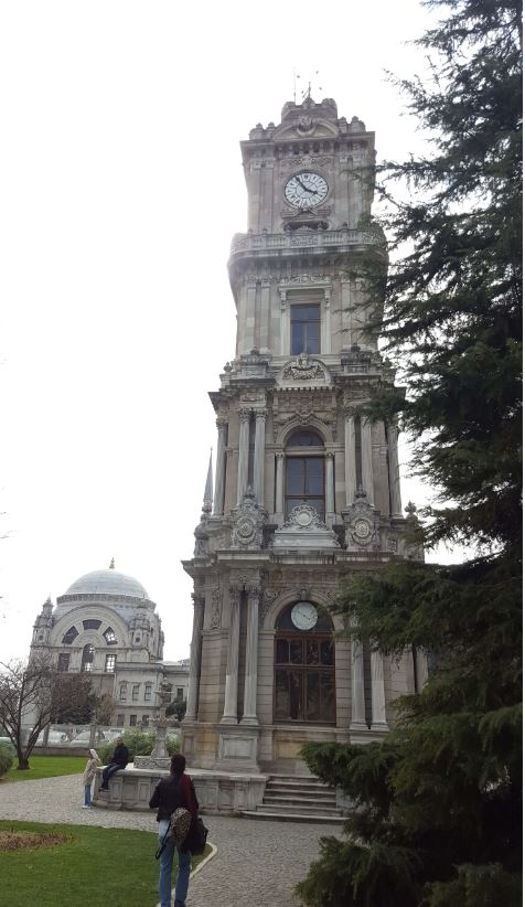 Dolmabahce Palace- Mosque and Clock Tower