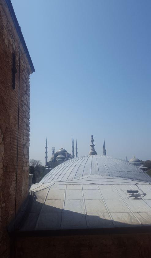 Hagia Sophia Istanbul Blue Mosque view