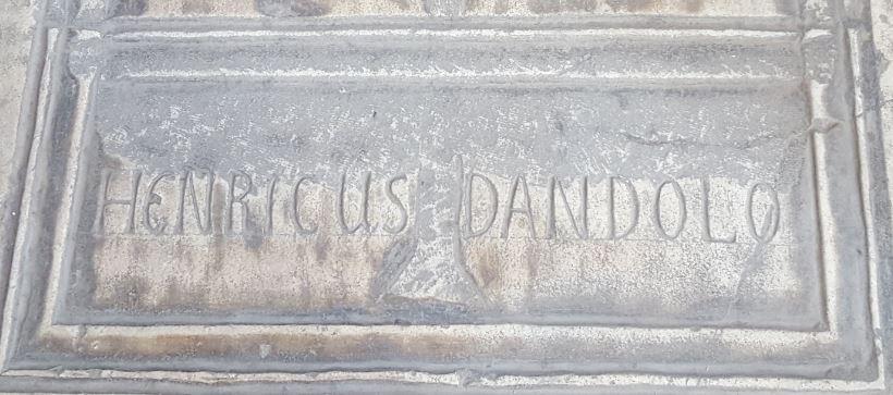 Dandolo gravestone in Hagia Sophia IStanbul