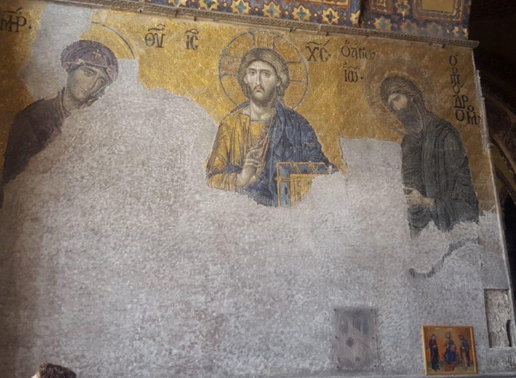 Deisis composition in Hagia Sophia