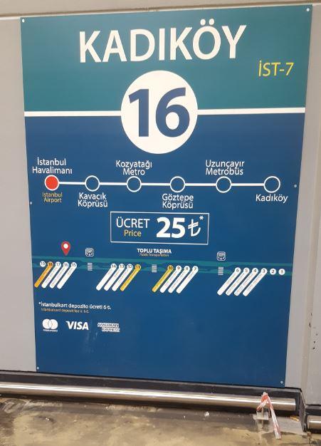 Istanbul Airport to Kadikoy