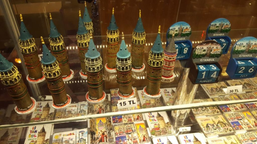 Galata Tower souvenir shop