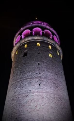 The tower during night