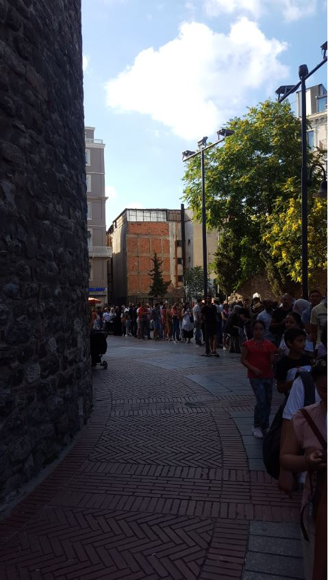 Galata Tower- long line