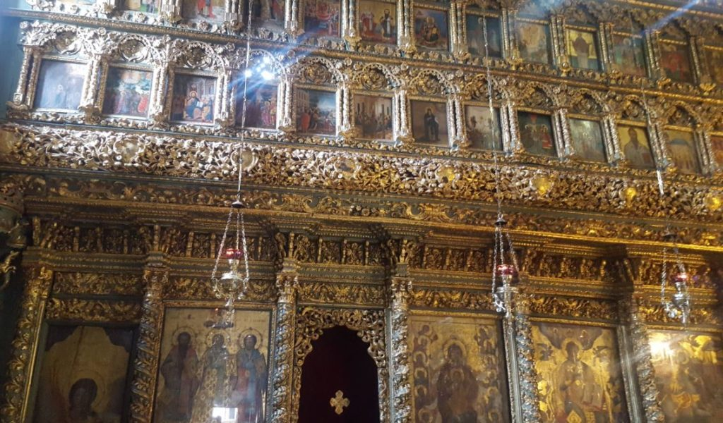 The iconostasis of Orthodox Patriarchate Istanbul