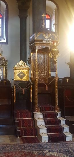 The throne in Orthodox Patriarchate Istanbul