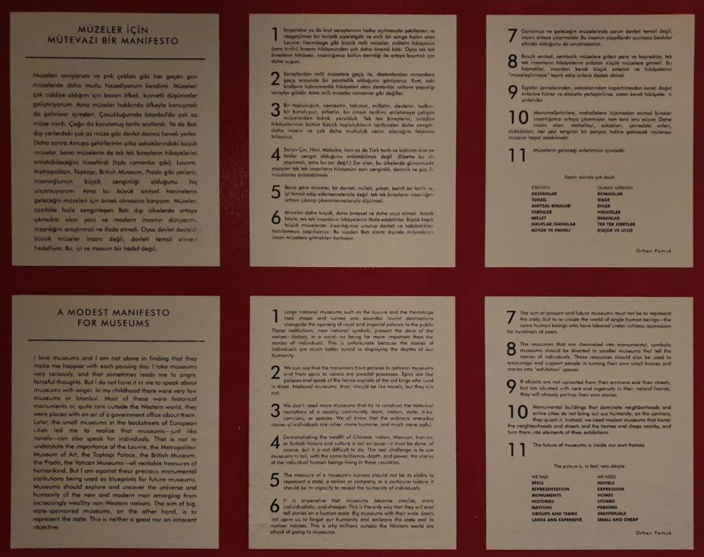 The museum of innocence- Orhan Pamuk's Manifesto