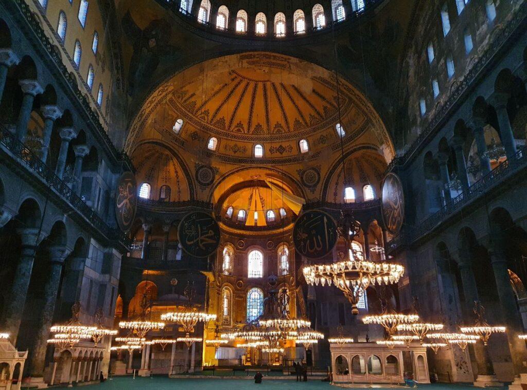 Hagia Sophia mosque inside