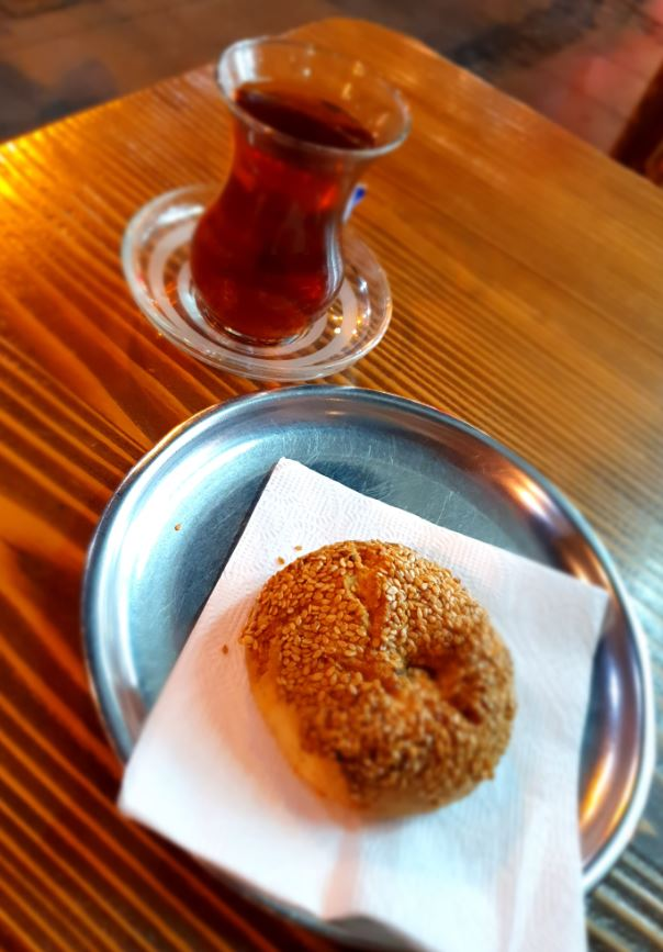 Turkish tea with pastry